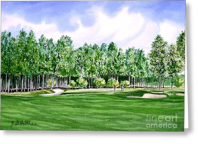 Pinehurst Golf Course 17TH Hole Greeting Card by Bill Holkham