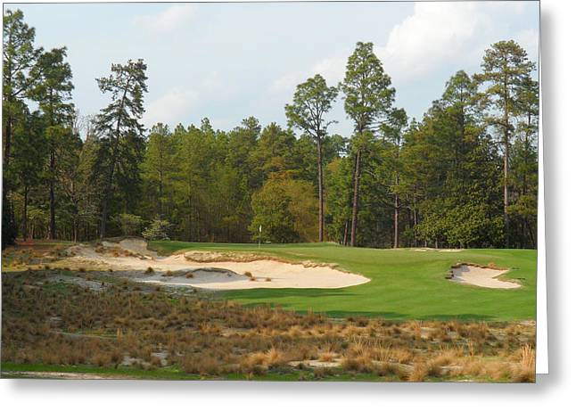 Us Open Greeting Cards - Pinehurst No. 2 Greeting Card by Jakob Gerney