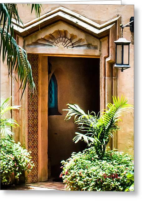 Pinewood Estate Entrance Greeting Card by Susan Molnar