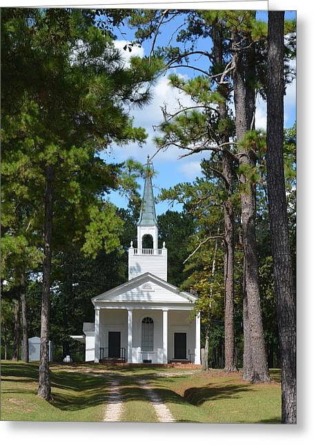 Piney Grove Church Greeting Card by Carla Parris