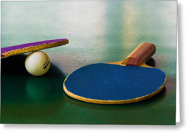 Ping Pong Greeting Cards - Ping Pong Greeting Card by Diane Bell