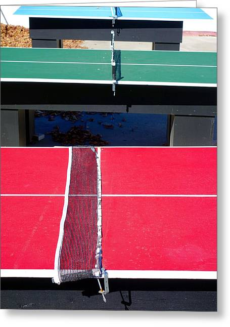 Ping Pong Greeting Cards - Ping Pong Tables Greeting Card by Valentino Visentini