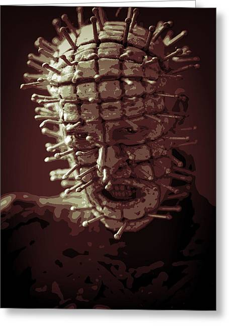 Pinhead Greeting Cards - Pinhead Hellraiser Greeting Card by Jonathan Davison