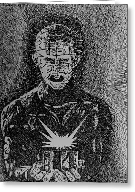 Pinhead Greeting Card by Jeremy Moore