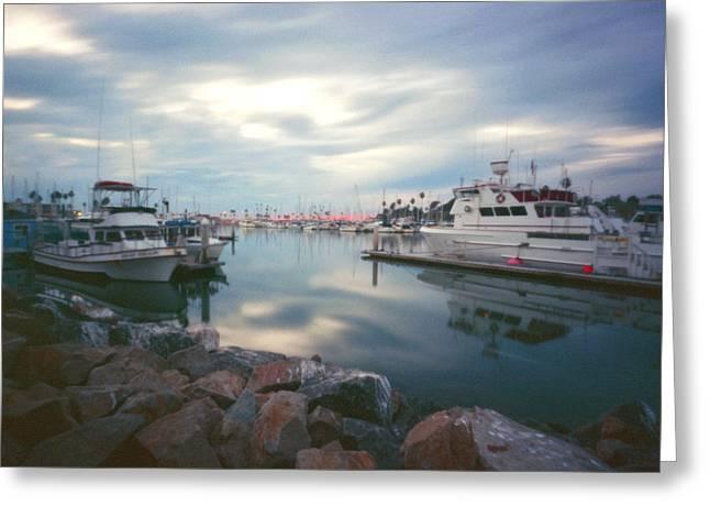 Pinhole Oceanside Harbor Greeting Card by Hugh Smith