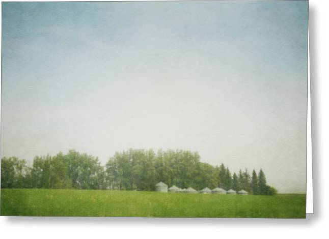 Grain Bin Greeting Cards - Pinhole Pictorialism Style Of Grain Greeting Card by Roberta Murray