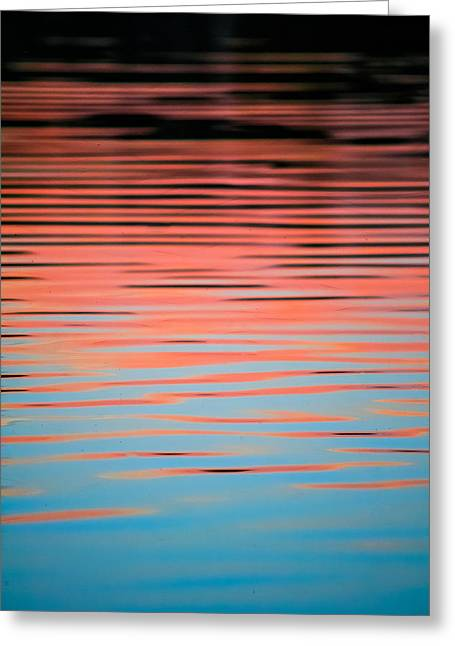 Sunset Abstract Photographs Greeting Cards - Pink Abstract Greeting Card by Shelby  Young