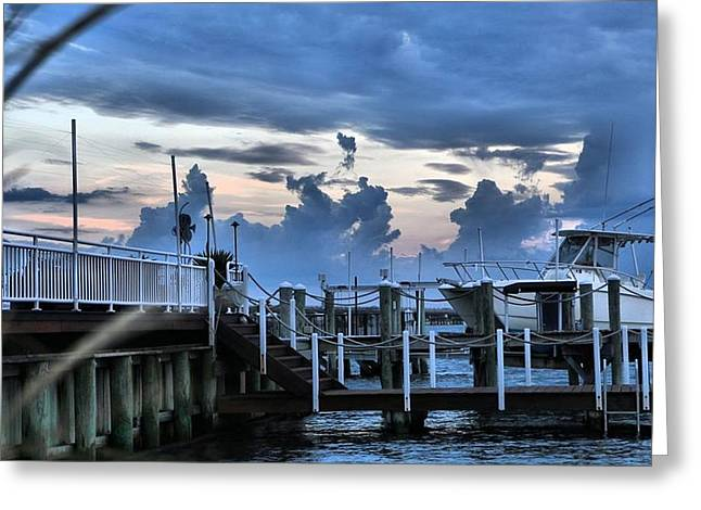 Stein Greeting Cards - Pink and blue at sunset. Greeting Card by Valerie Stein