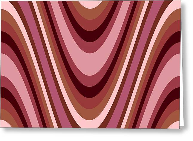 Romanovna Greeting Cards - Pink and Brown Chic Swirls Greeting Card by Georgiana Romanovna