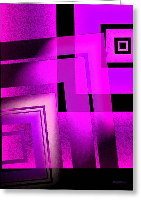 Transparency Geometric Greeting Cards - Pink Art Design in Digital Art Greeting Card by Mario  Perez