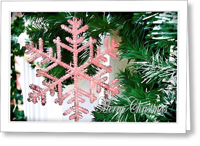 Pink Greeting Card by Audreen Gieger-Hawkins