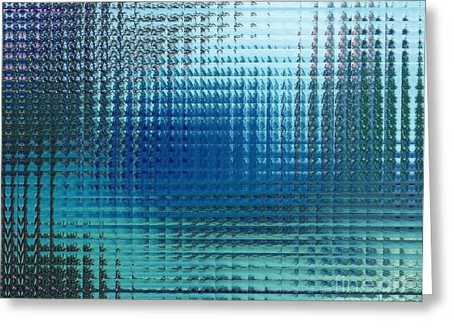 Modern Digital Art Digital Art Greeting Cards - Pink Blossom Glass Tiles Greeting Card by Donna Daugherty