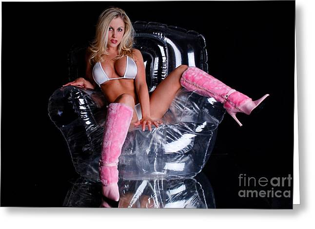 Large Breasts Greeting Cards - Pink Boots Greeting Card by Jt PhotoDesign