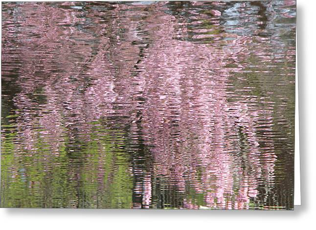 Pink Breeze Greeting Card by Karin Ubeleis-Jones