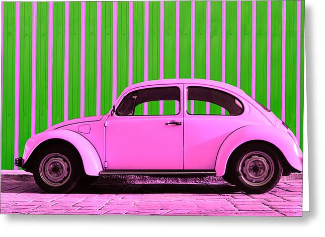 Teen Greeting Cards - Pink Bug Greeting Card by Laura  Fasulo