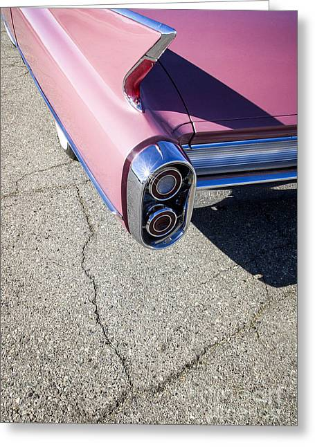 Car Framed Prints Greeting Cards - Pink Caddillac Greeting Card by Holly Martin
