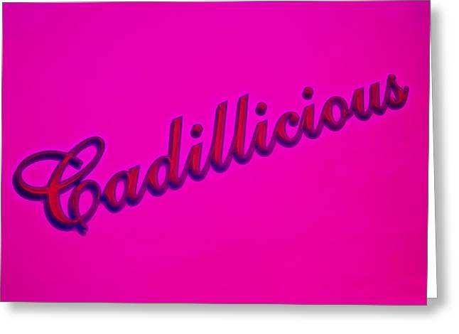 Phil Motography Clark Greeting Cards - Pink Cadillicious Greeting Card by Phil