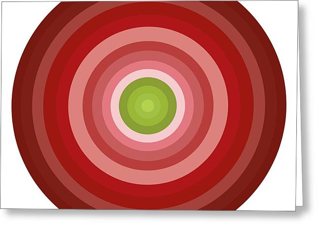 Green Design Greeting Cards - Pink Circles Greeting Card by Frank Tschakert