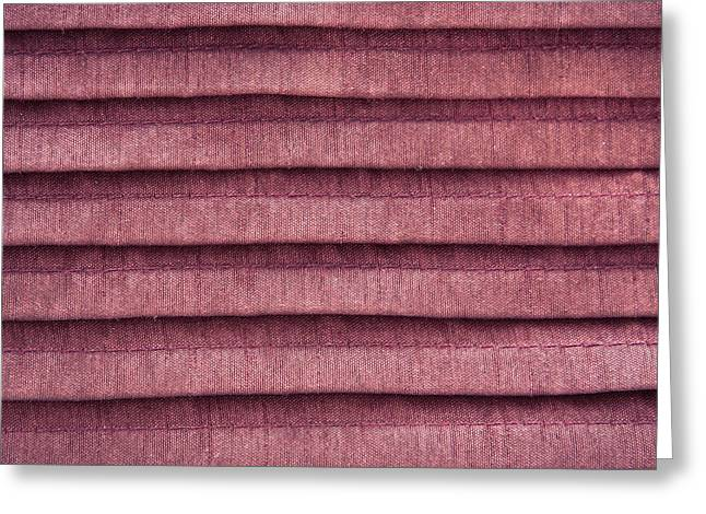 Backdrop Photographs Greeting Cards - Pink cloth Greeting Card by Tom Gowanlock