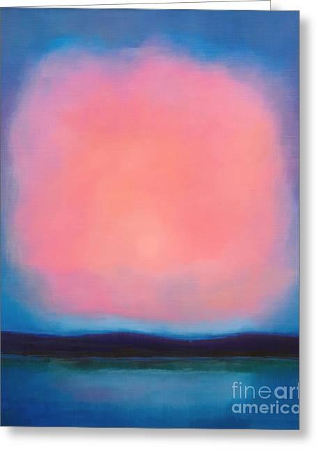 Pink Sky Greeting Cards - Pink Cloud Greeting Card by Lutz Baar