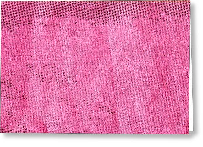 Abstract Style Greeting Cards - Pink cotton  Greeting Card by Tom Gowanlock