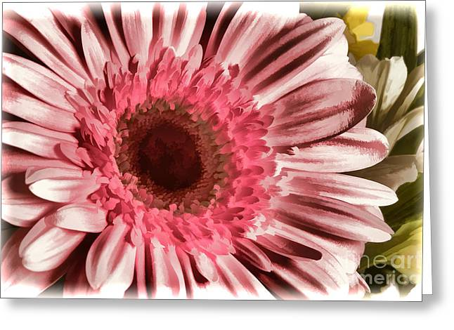 Pinks And Purple Petals Greeting Cards - Pink Daisy Spring flower Pastel Painting in Color 3177.02 Greeting Card by M K  Miller