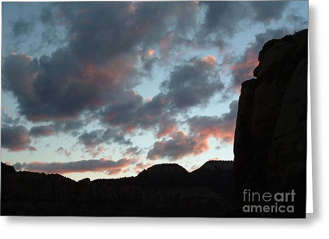 Decor Photography Pyrography Greeting Cards - Pink Desert Sky Greeting Card by Kimberly Cohne