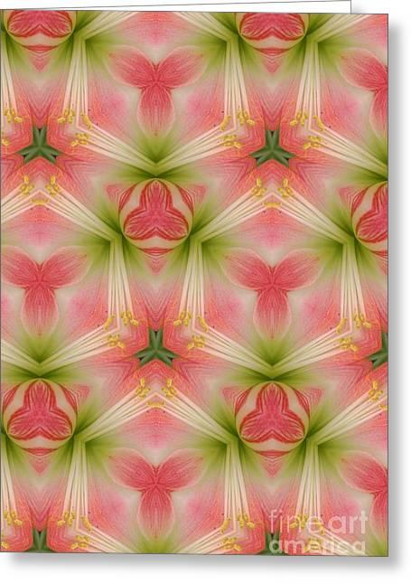 Struckle Greeting Cards - Pink Design Greeting Card by Kathleen Struckle