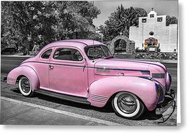St. Francis Day Greeting Cards - Pink Dodge Greeting Card by Diana Powell