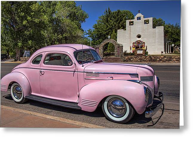 St. Francis Day Greeting Cards - Pink Dodge in Tularosa Greeting Card by Diana Powell