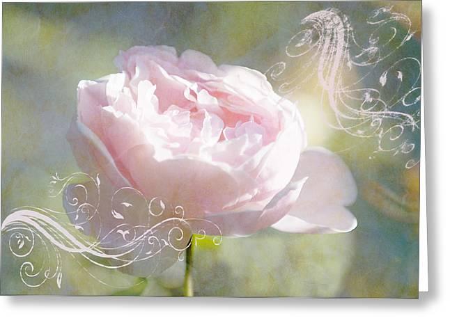 Graphics Framed Prints Greeting Cards - Pink Dreams Greeting Card by Melinda Dreyer