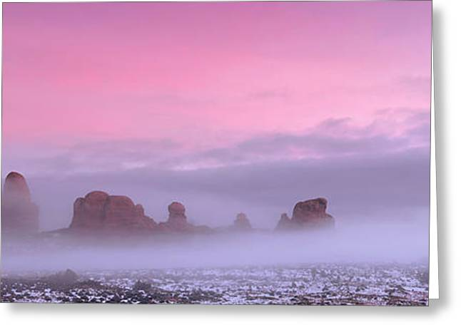 Southern Utah Greeting Cards - Pink Greeting Card by Dustin  LeFevre