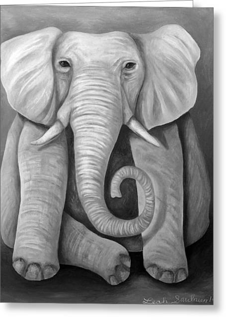 Elephant In The Room Greeting Cards - Pink Elephant edit 4 Greeting Card by Leah Saulnier The Painting Maniac