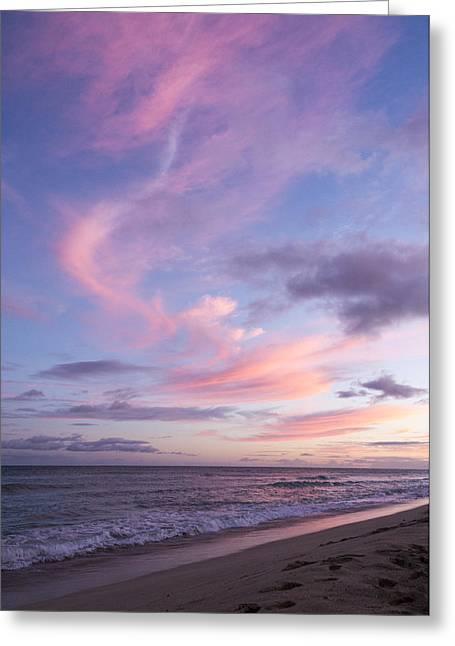 Ewa Greeting Cards - Pink Ewa Beach Sunset - Oahu Hawaii Greeting Card by Brian Harig