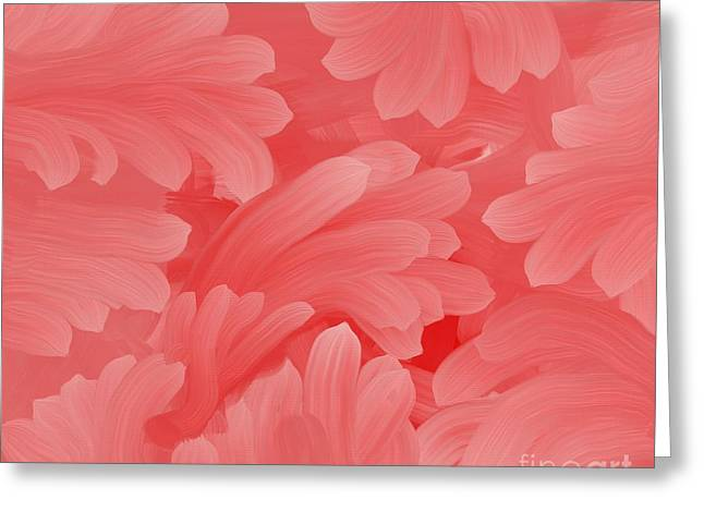 Print On Canvas Greeting Cards - Pink Fern Fantasy Greeting Card by Marsha Heiken
