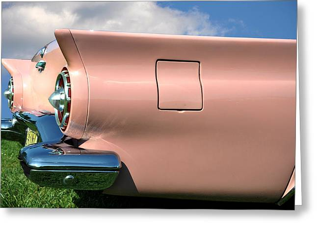 Pink Fins Greeting Card by Bill Cannon