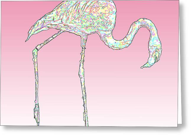 Pink Flamingo Greeting Card by Jimi Bush