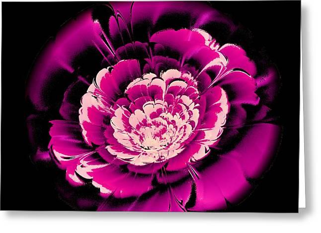 Decoration Greeting Cards - Pink Flower Greeting Card by Anastasiya Malakhova