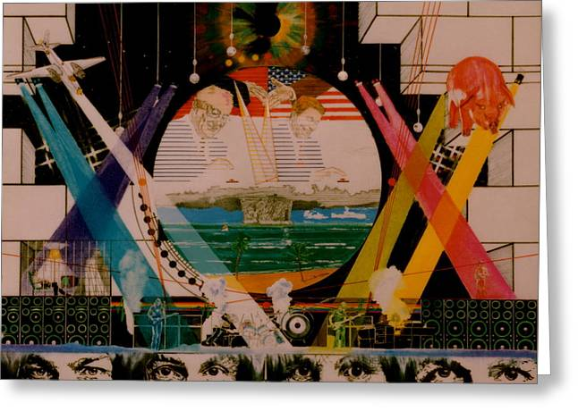 Pink Floyd Live At High Noon Greeting Card by Sean Connolly