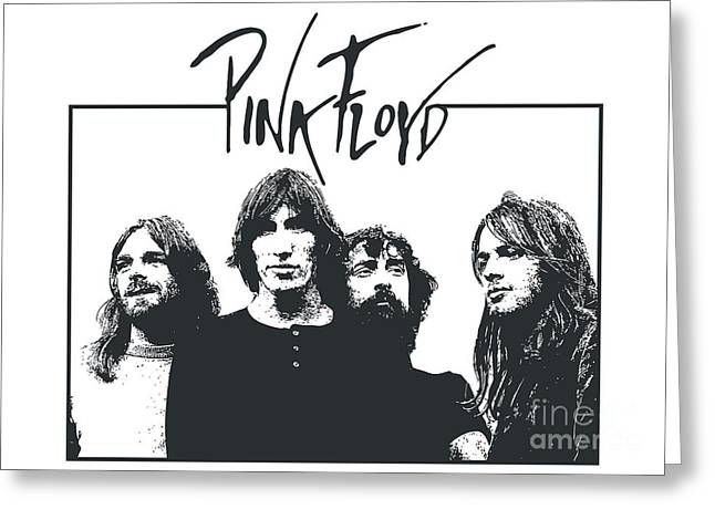Guitar Digital Greeting Cards - Pink Floyd No.05 Greeting Card by Caio Caldas