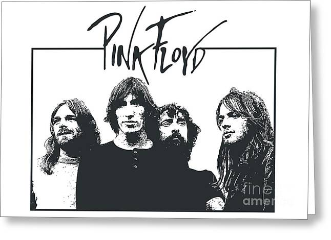 Rock Guitar Player Greeting Cards - Pink Floyd No.05 Greeting Card by Caio Caldas