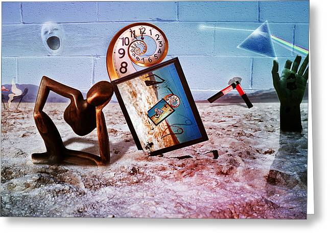 Marching Band Greeting Cards - Pink Floyd Perceptual Thinker Greeting Card by Becca Buecher
