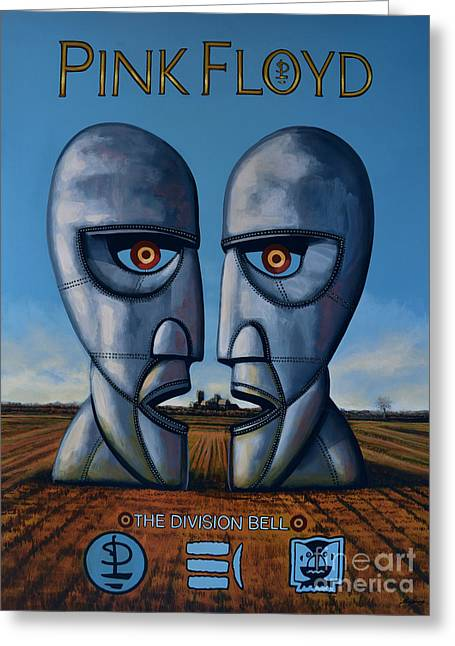Portrait Artwork Greeting Cards - Pink Floyd - The Division Bell Greeting Card by Paul  Meijering