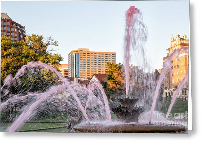 Greeting Cards For Cancer Photographs Greeting Cards - Pink Fountain for Breast Cancer Greeting Card by Terri Morris