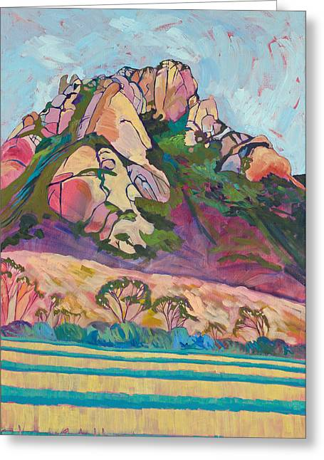 Nine Sisters Greeting Cards - Pink Hollister Peak Greeting Card by Jayne Schelden