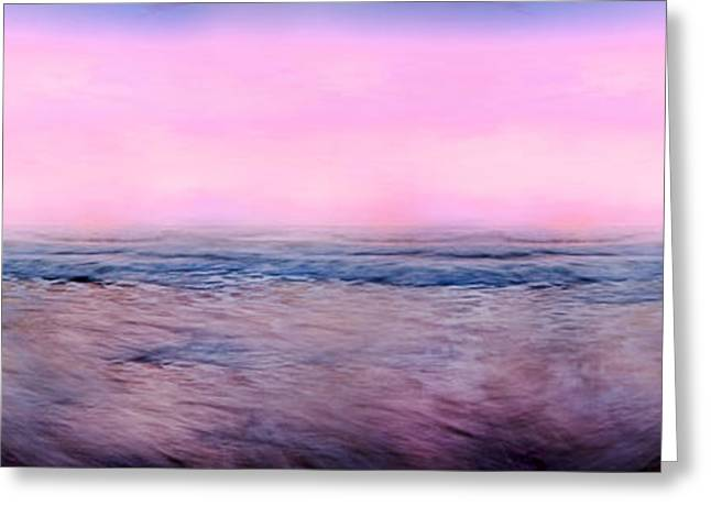 Atlantic Beaches Greeting Cards - Pink Horizon Greeting Card by Betsy A  Cutler