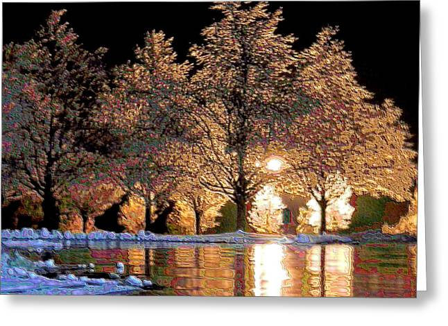 Keeneland Digital Greeting Cards - Pink Ice Greeting Card by Christopher Hignite