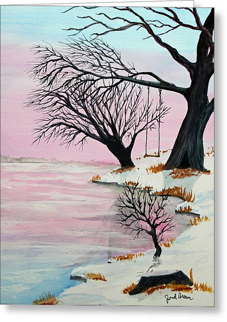 Pink Ice Greeting Card by Jack G  Brauer