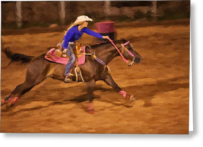 Wild Racers Greeting Cards - Pink Greeting Card by Jack Milchanowski
