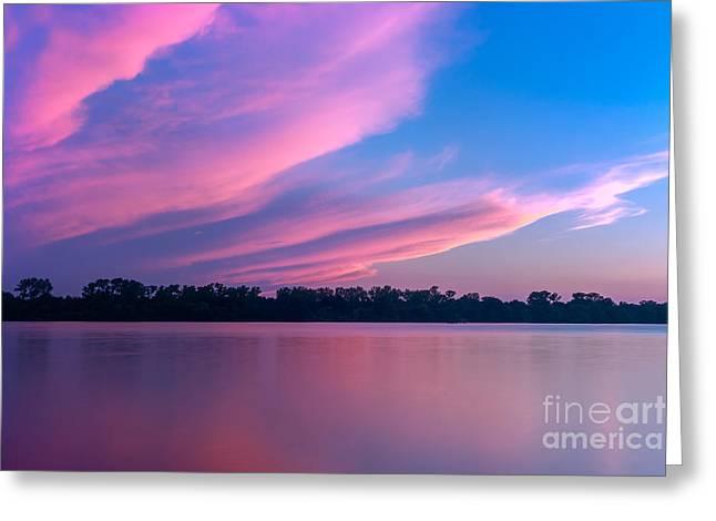Van Buren Arkansas Greeting Cards - Pink Greeting Card by Larry McMahon